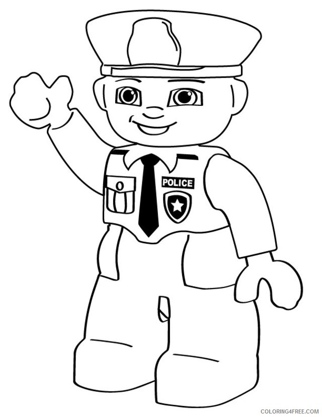 - Police Coloring Pages Lego Coloring4free - Coloring4Free.com