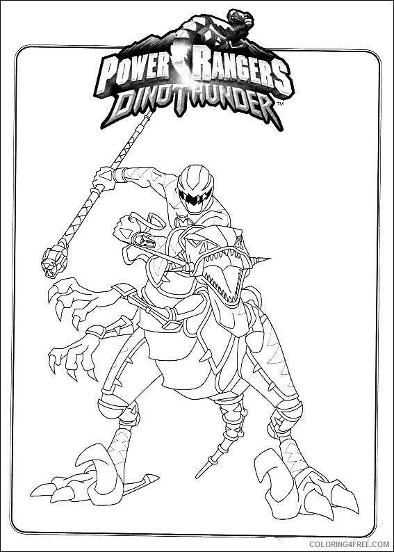 - Power Ranger Coloring Pages Dino Thunder Red Coloring4free -  Coloring4Free.com