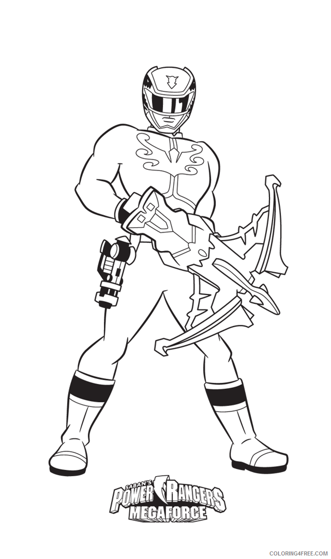 - Power Ranger Coloring Pages Megaforce Red Ranger Coloring4free -  Coloring4Free.com