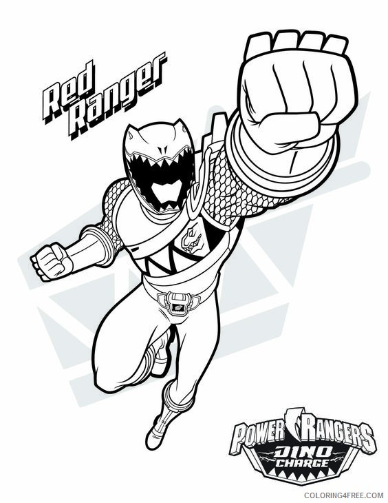 - Power Ranger Coloring Pages Red Ranger Coloring4free - Coloring4Free.com