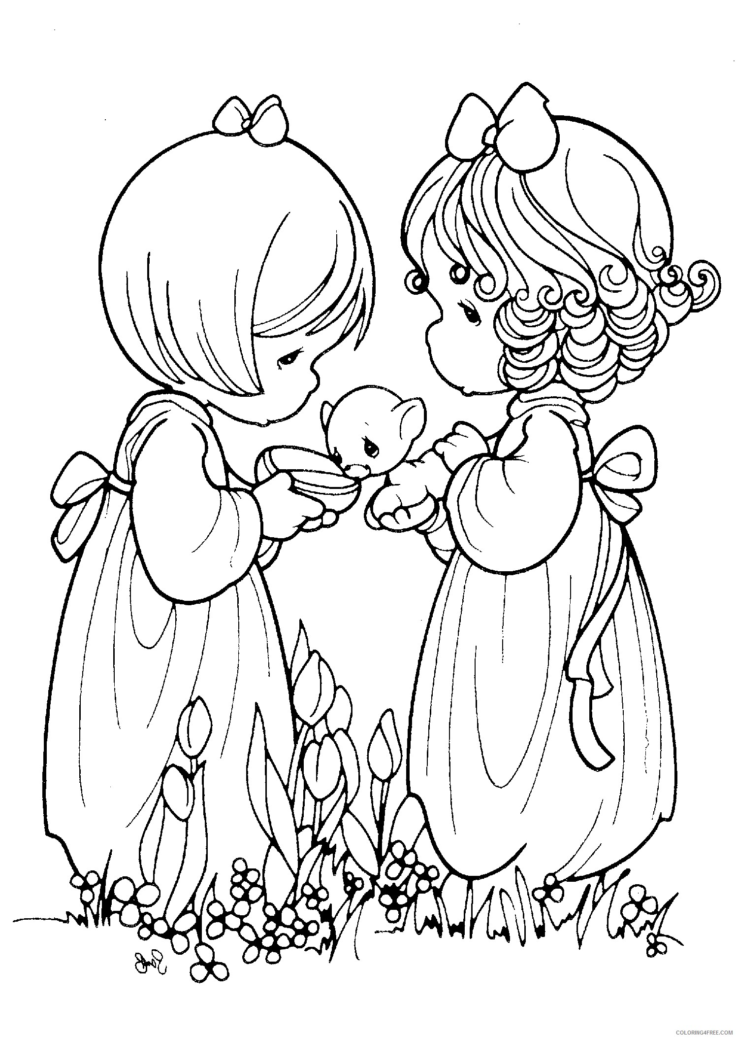 precious moments coloring pages friendship Coloring4free - Coloring4Free.com