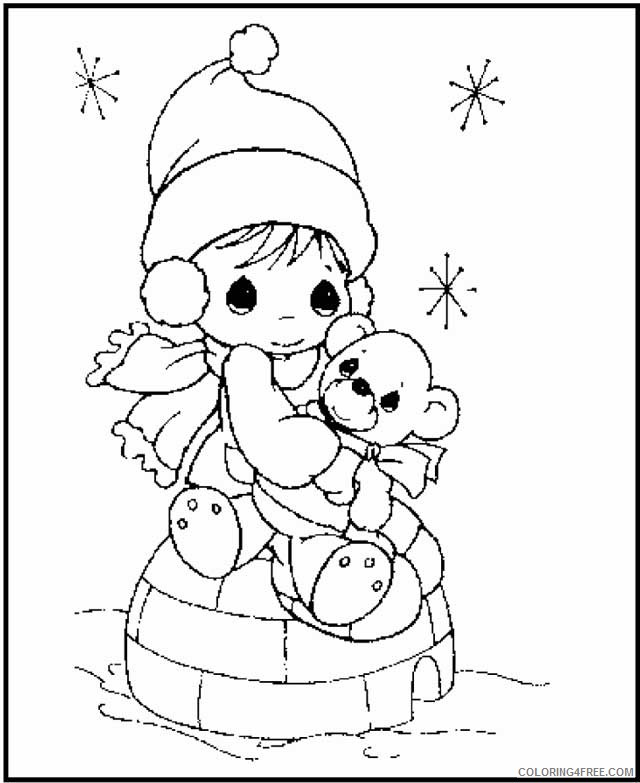 Precious Moments Coloring Pages Winter Coloring4free - Coloring4Free.com