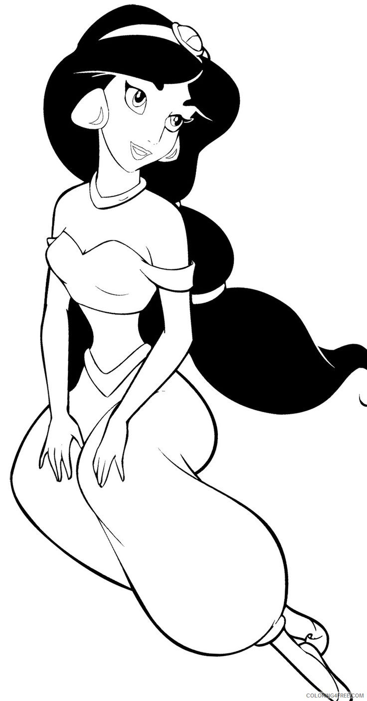 Princess Jasmine Coloring Pages Printable Coloring4free Coloring4free Com