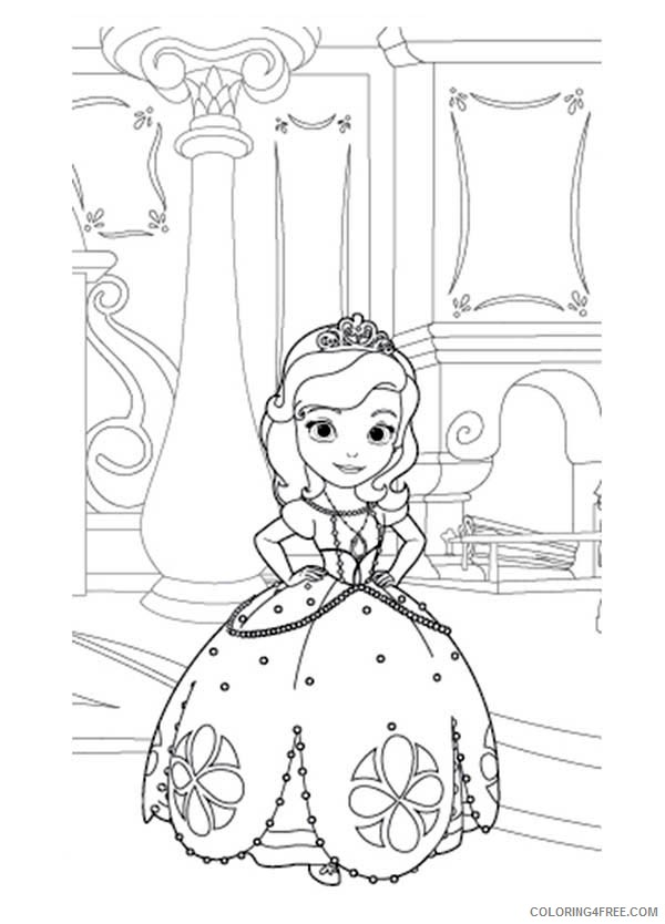 Princess Sofia Coloring Pages In Castle Coloring4free - Coloring4Free.com