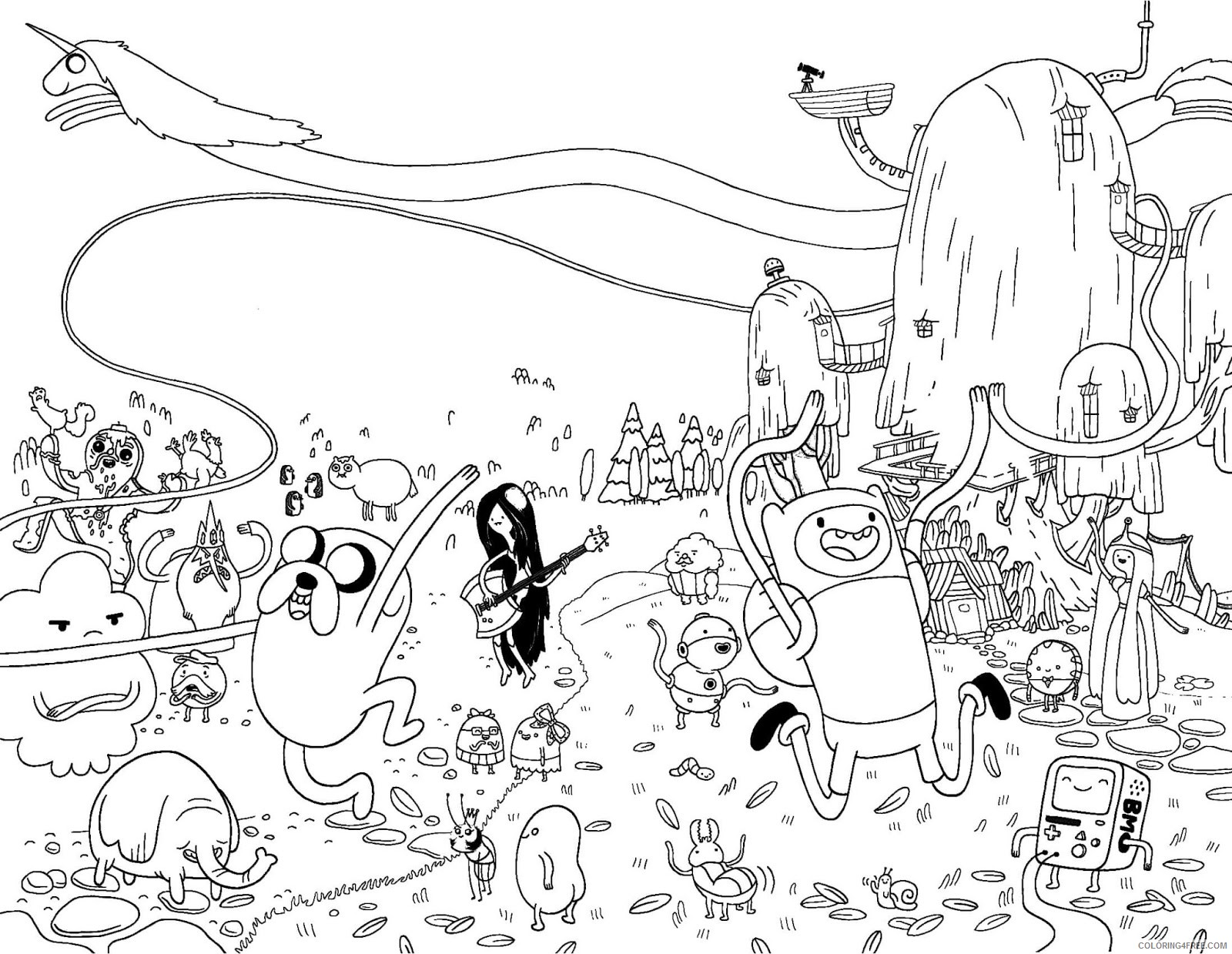 Printable Adventure Time Coloring Pages Coloring4free Coloring4free Com