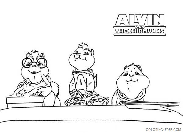 Printable Alvin And The Chipmunks Coloring Pages Coloring4free Coloring4free Com