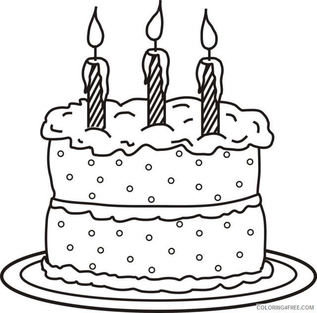 Peachy Printable Birthday Cake Coloring Pages For Kids Coloring4Free Funny Birthday Cards Online Barepcheapnameinfo