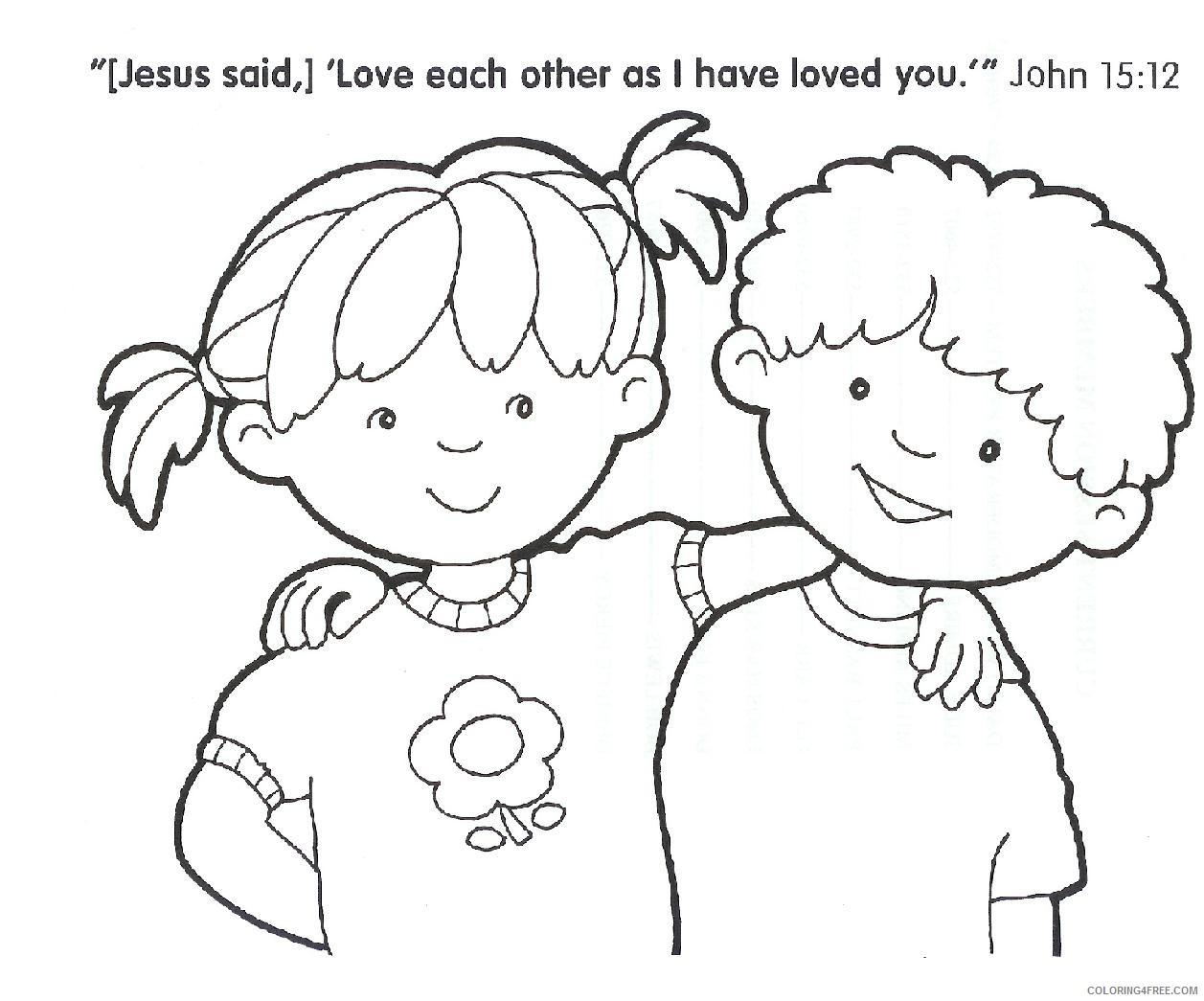 Fabulous Free Christian Coloring Pages For Kids Image Ideas ... | 1045x1257
