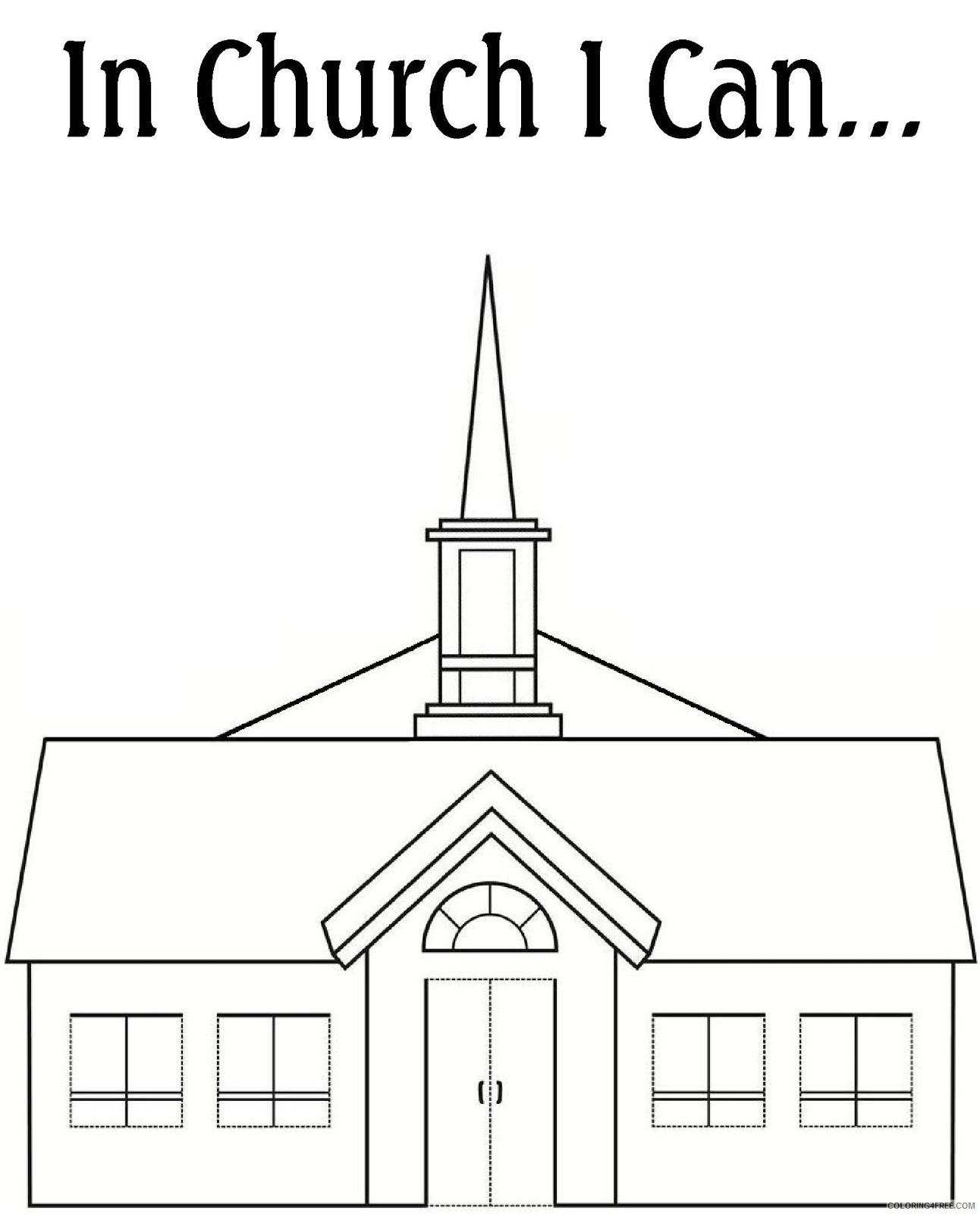 Printable Church Coloring Pages Free Coloring4free - Coloring4Free.com