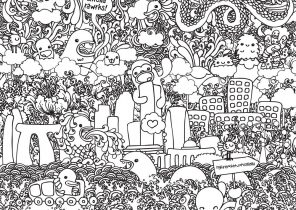 Free Coloring Pages - Doodle Art Alley | 210x296