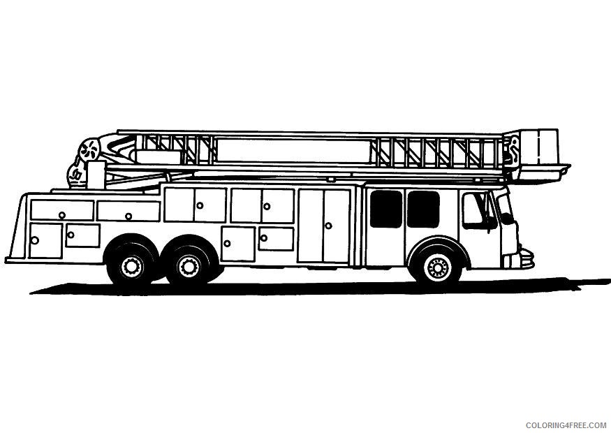 - Printable Fire Truck Coloring Pages Coloring4free - Coloring4Free.com