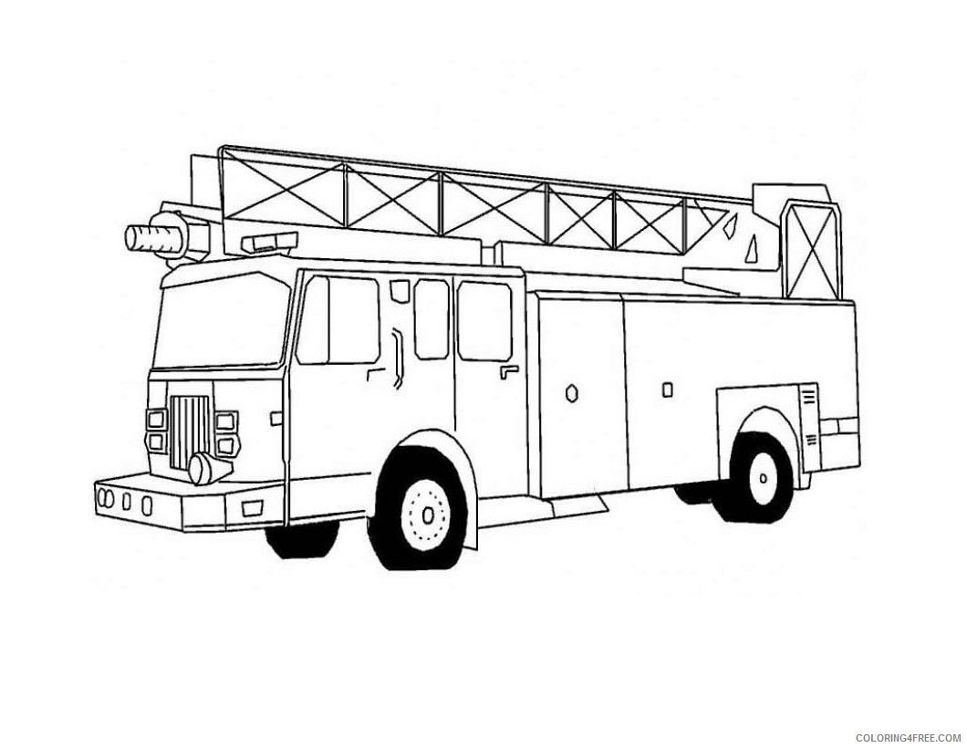 - Printable Fire Truck Coloring Pages For Kids Coloring4free