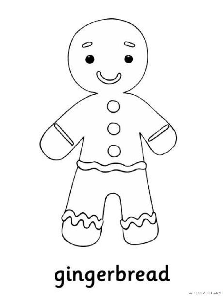 Printable Gingerbread Man Coloring Pages For Kids Coloring4free Coloring4free Com
