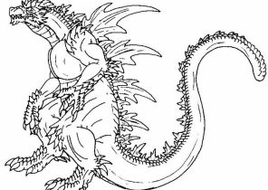 Godzilla Coloring Pages Coloring4free Com