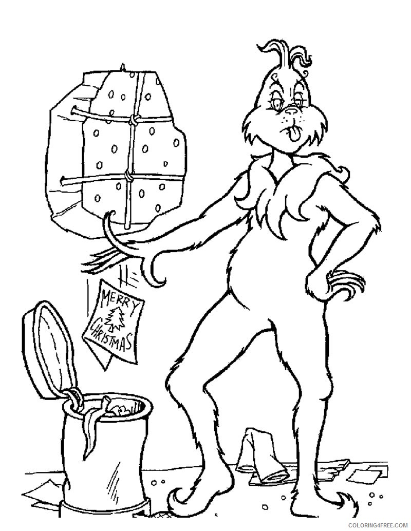 - Grinch Coloring Pages Cindy Lou Who Coloring4free - Coloring4Free.com