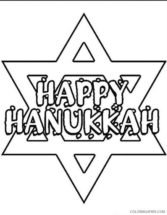 Printable Hanukkah Coloring Pages Coloring4free Coloring4free Com