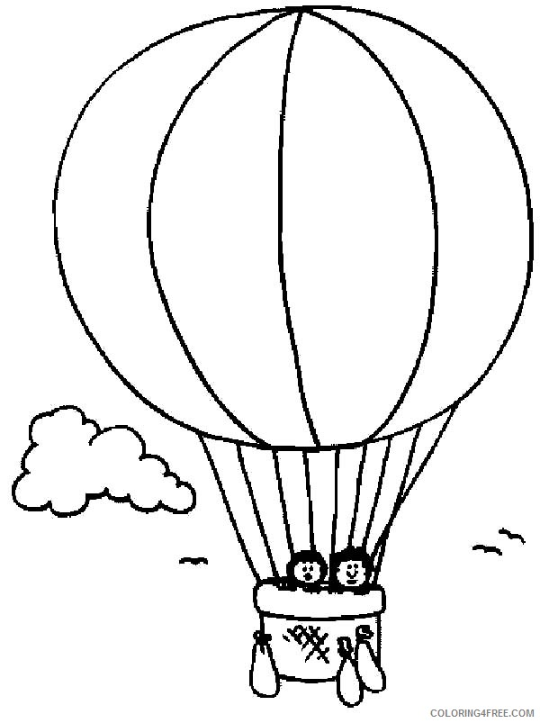 It's just a photo of Hot Air Balloon Coloring Pages Free Printable within preschooler