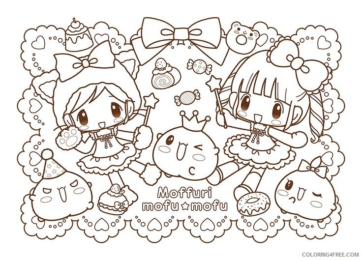 Printable Kawaii Coloring Pages Coloring4free - Coloring4Free.com