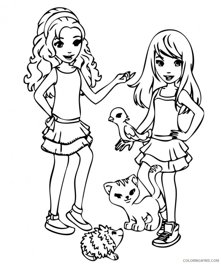 - Printable Lego Friends Coloring Pages Coloring4free - Coloring4Free.com
