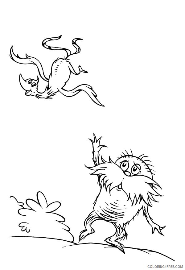 Lorax Coloring Page - Coloring Home | 875x600
