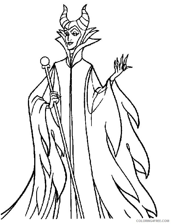 Download Maleficent 2014 Maleficent Coloring Page
