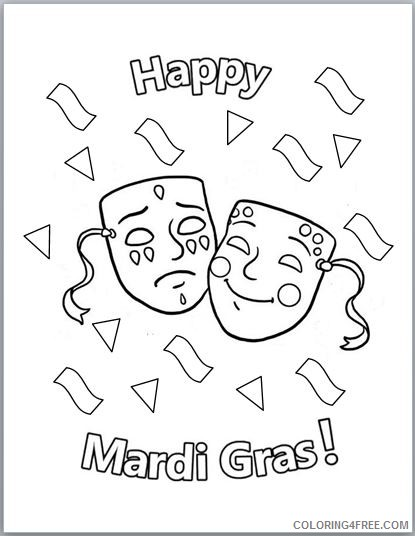 printable mardi gras coloring pages for kids Coloring4free ...