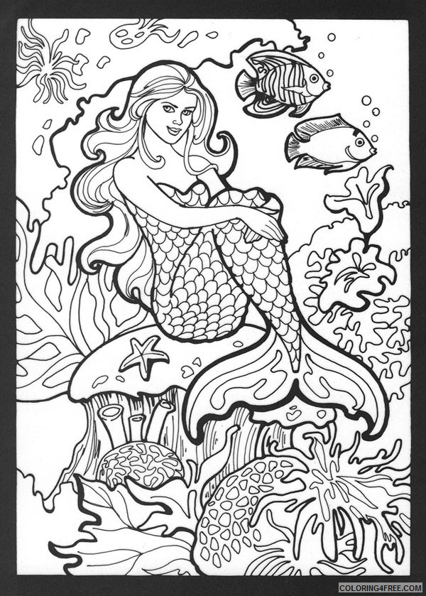 Anime Mermaid Coloring Pages for Child #2360 Anime Mermaid ... | 839x600