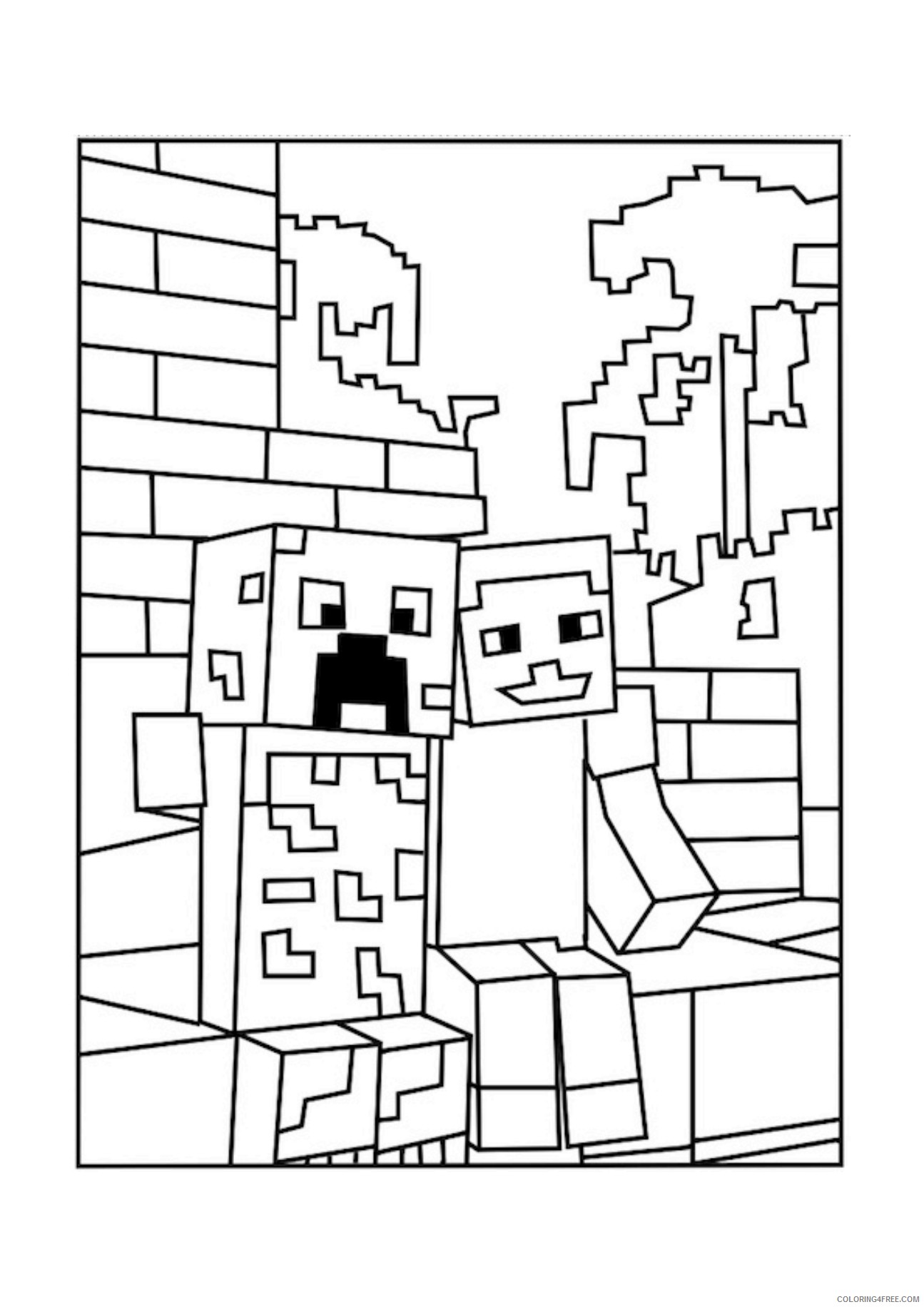 printable minecraft coloring pages Coloring18free   Coloring18Free.com