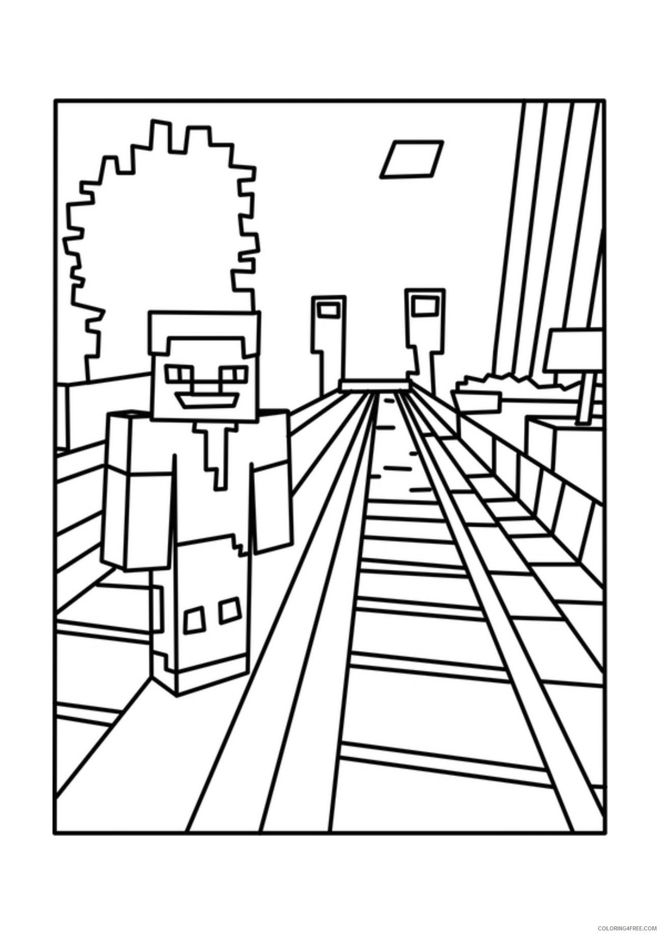 - Printable Minecraft Coloring Pages For Kids Coloring4free