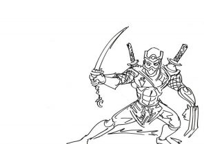 Ninja Coloring Pages Coloring4free Com