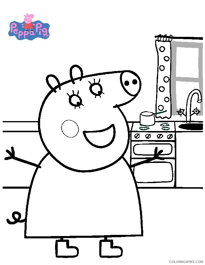 printable peppa pig coloring pages Coloring4free - Coloring4Free.com