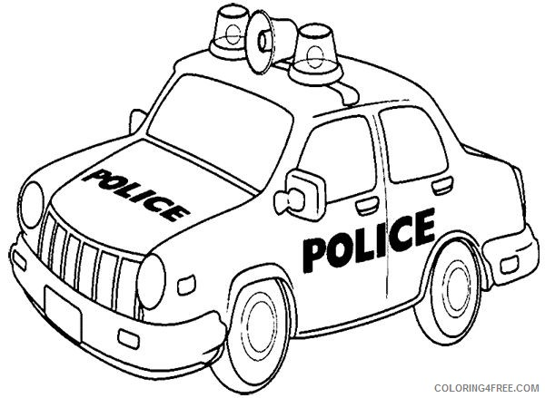 Printable Police Car Coloring Pages For Kids Coloring4free