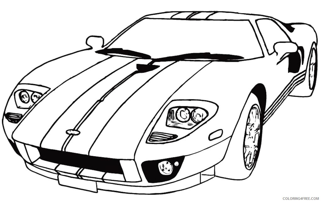 Printable Race Car Coloring Pages For Kids Coloring4free - Coloring4Free.com
