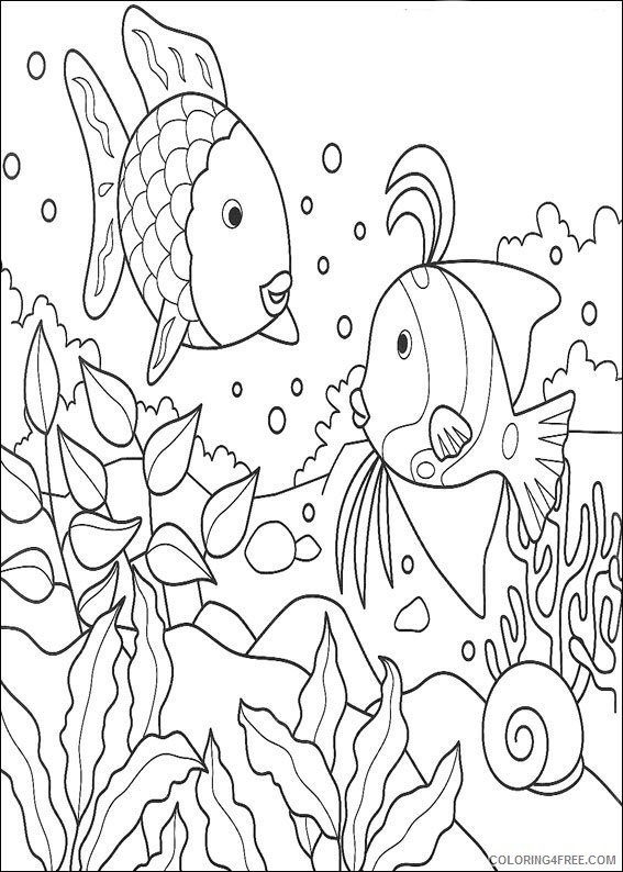Rainbow Fish Coloring Pages For Kids Coloring Pages length ... | 794x567