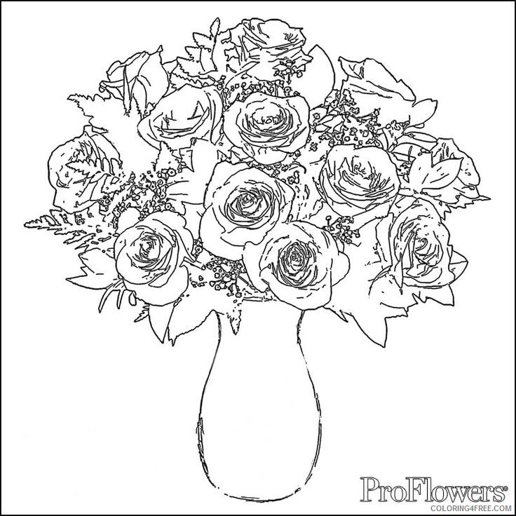 Rose Coloring Pages To Print Coloring4free Coloring4free Com