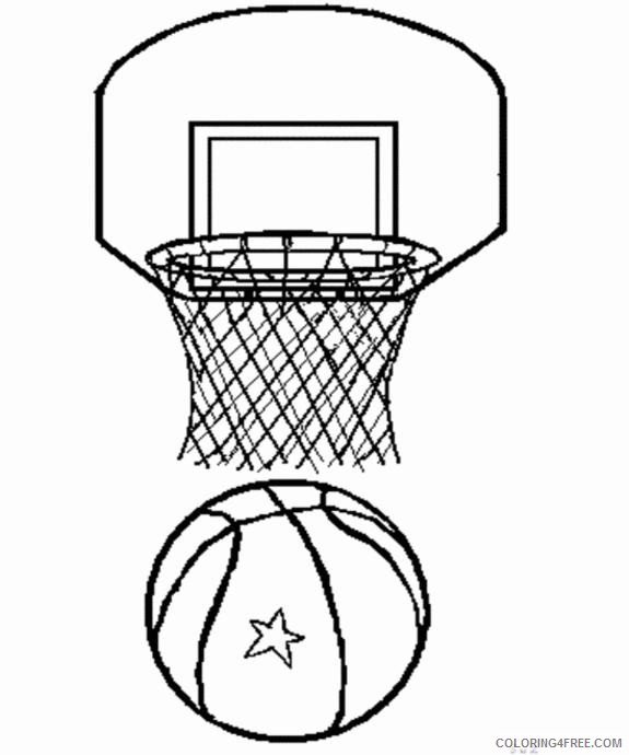 - Printable Sports Coloring Pages Basketball Coloring4free - Coloring4Free.com