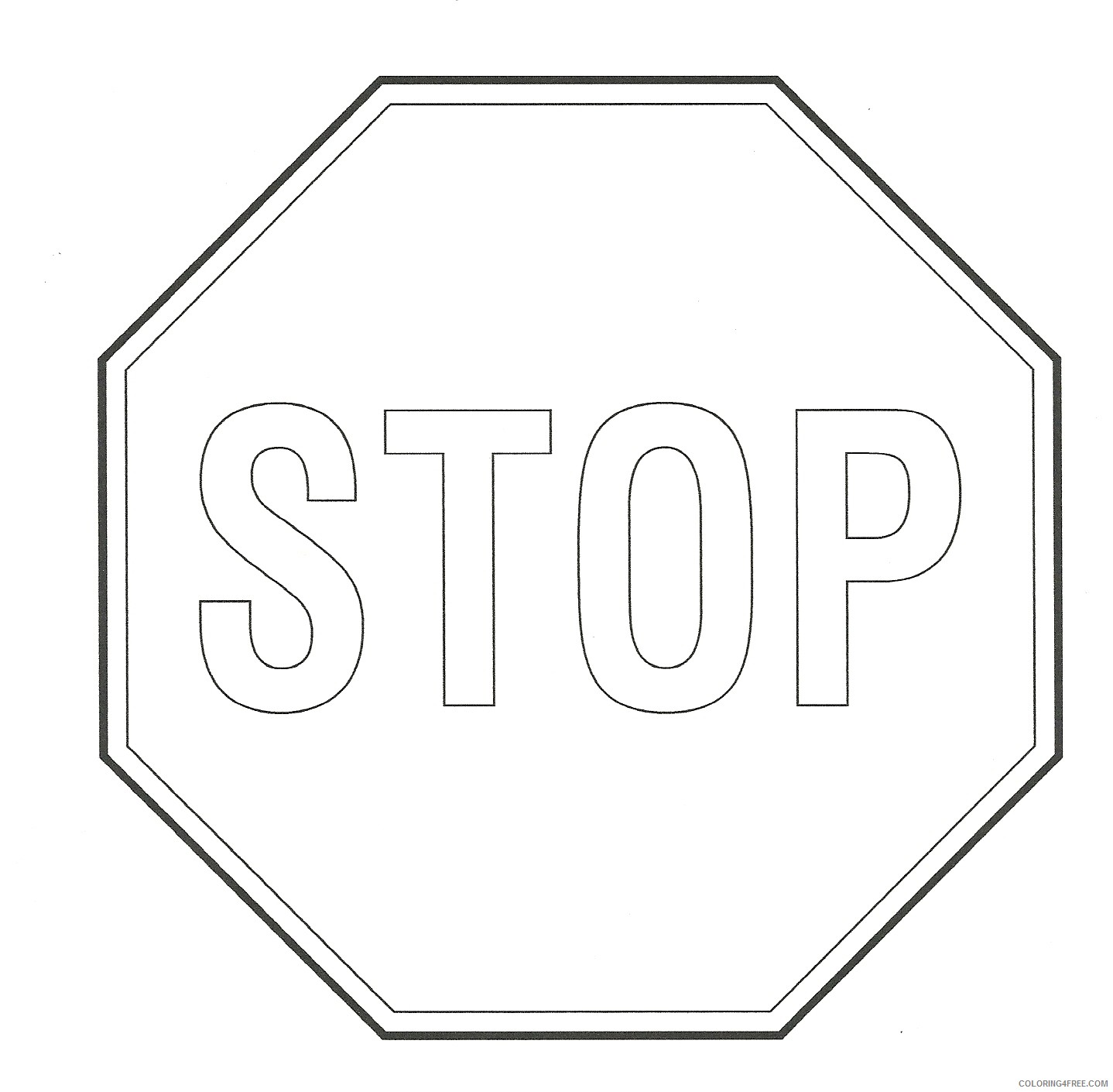 It's just an image of Stop Sign Printable inside template