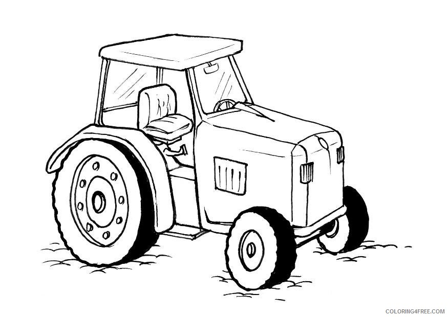 Printable Tractor Coloring Pages For Kids Coloring4free - Coloring4Free.com