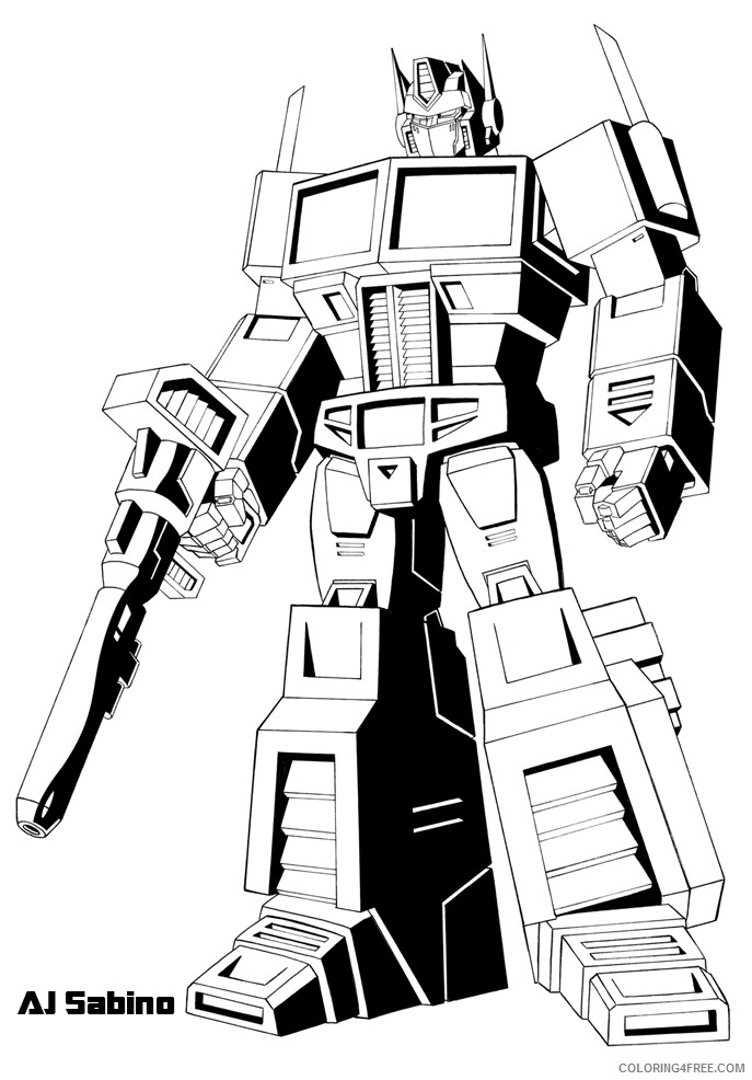 Printable Transformer Coloring Pages For Kids Coloring4free