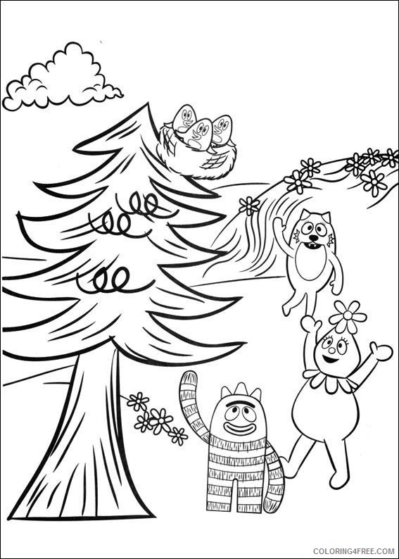 printable yo gabba gabba coloring pages for kids ...
