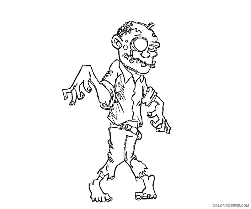 Zombie Pikachu Pages Coloring Pages