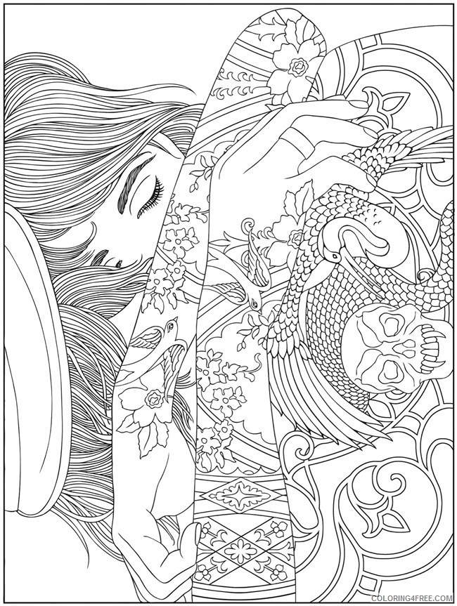 - Psychedelic Coloring Pages Printable For Adults Coloring4free -  Coloring4Free.com