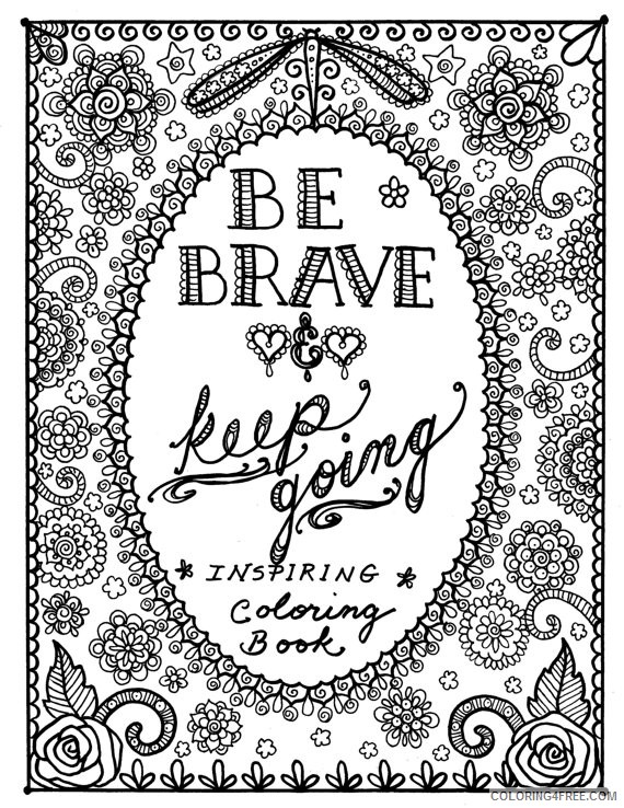 Quote Coloring Pages For Adults Printable Coloring4free - Coloring4Free.com