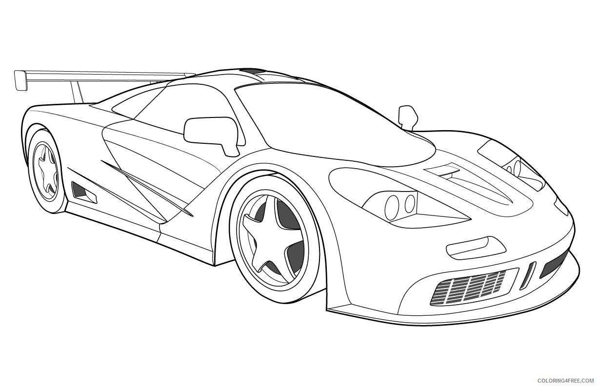 race car coloring pages cool car Coloring4free - Coloring4Free.com
