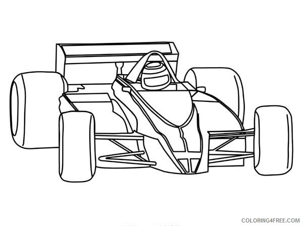 Race Car Coloring Pages Formula One F1 Coloring4free - Coloring4Free.com