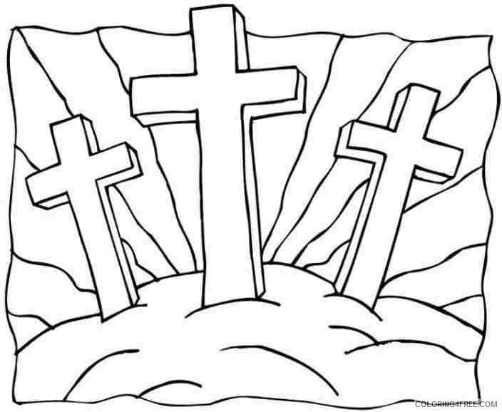 religious coloring pages jesus cross Coloring4free ...