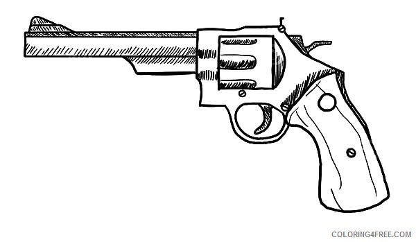 Revolver Gun Coloring Pages To Print Coloring4free Coloring4free Com