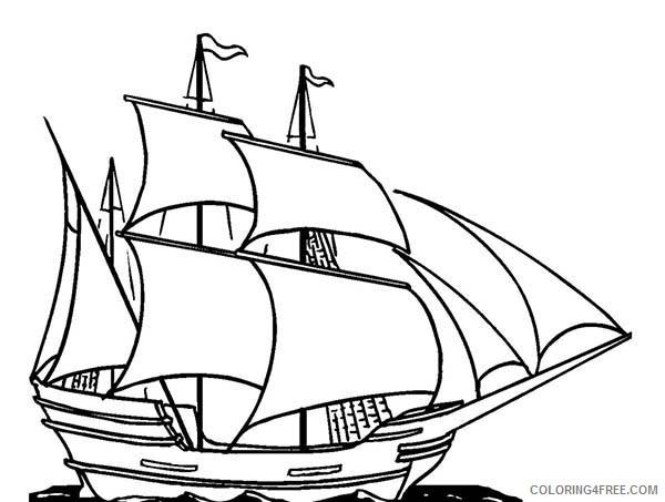 Sailing ship coloring page - Print. Color. Fun! | 453x600