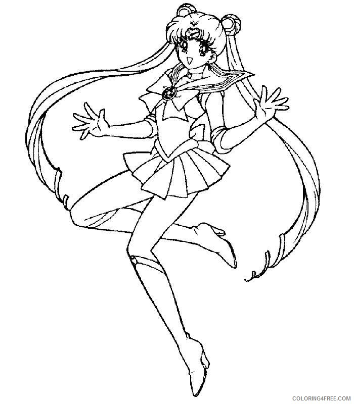 sailor moon coloring pages sailor usagi Coloring4free ...