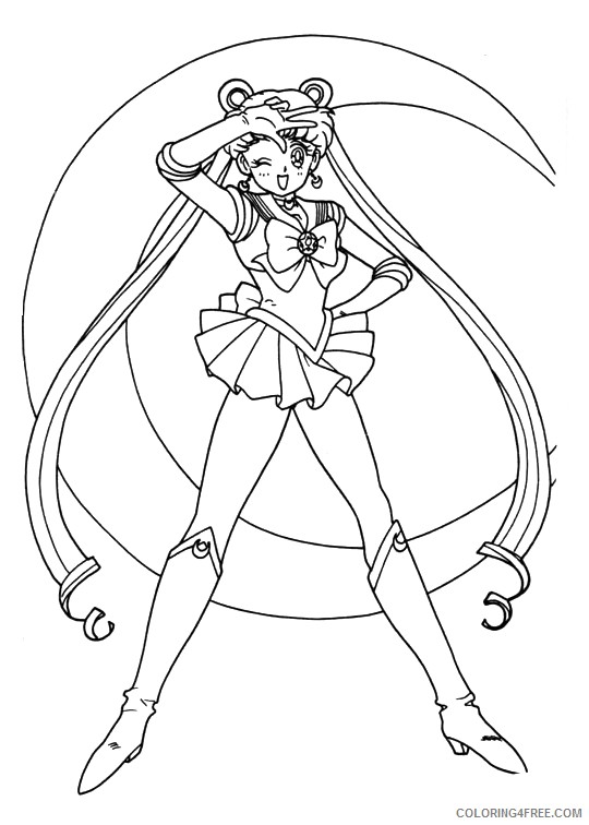sailor moon coloring pages to print Coloring4free - Coloring4Free.com